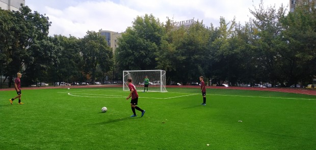 Opening of a modern football field in Kyiv equipped by the investor