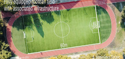 "Construction of a football field with an artificial surface and concomitant sport infrastructure, lyceum ""Goloseevsky» № 241"
