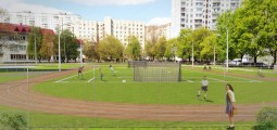"Construction of a football field with an artificial surface and concomitant sport infrastructure, lyceum ""Goloseevsky» №241"