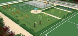 Arranging of sports playgrounds