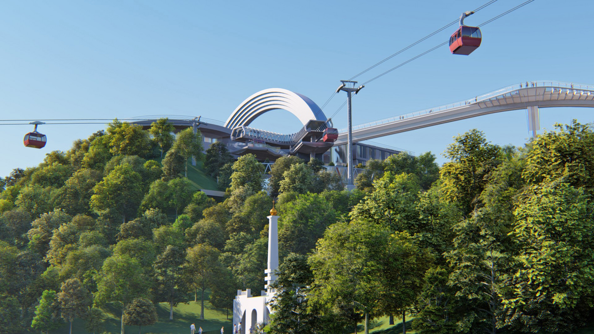 Construction (creation) of objects of engineering and transport infrastructure - cable car with public objects