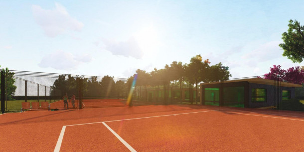The investor will arrange a tennis courts in the Peremoha park